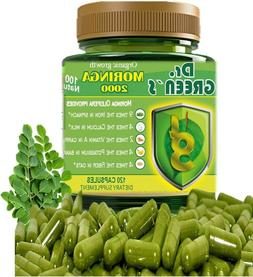 100 percent pure moringa oleifera leaf 1000mg