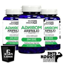 3x moringa oleifera extract 5000mg 3x180caps bundle