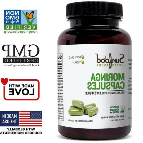 super foods moringa capsules 600 mg 90