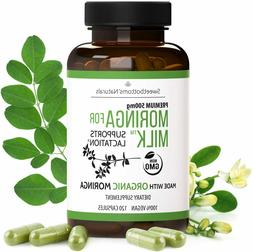 Lactation Supplement - Organic Moringa Capsules  for Breastf