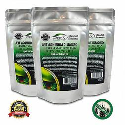 Moringa Tea 3-Pack 90 Bags 100% Pure Organic Great For Energ