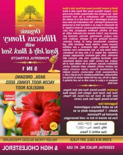 Organic Hibiscus Honey With Royal Jelly & Black Seed 5 In 1
